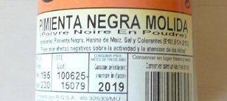 etiqueta pimienta negra molida