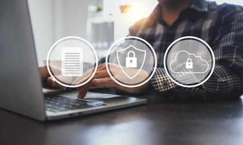 Protección de datos informáticos de seguridad de red